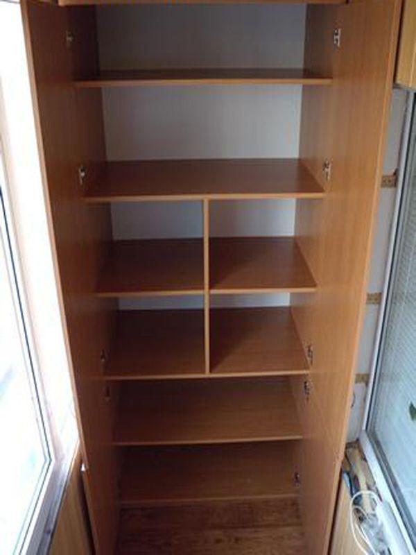 Шкаф на балкон: установка шкафа из дсп на лоджии.